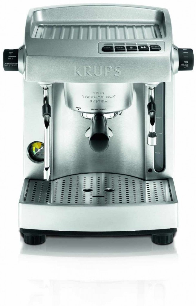 KRUPS XP618050 Full Stainless Steel Twin Thermo Block Espresso Machine