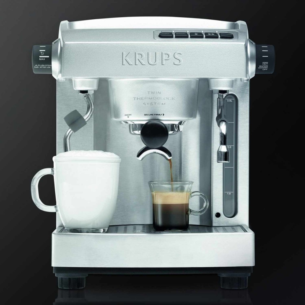 KRUPS XP618050 Full Stainless Steel Twin Thermo Block Espresso Machine0_